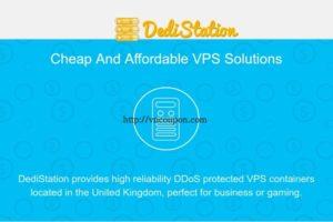 Dedistation – DDoS防护 UK VPS 提供 2GB 内存 $15 年付