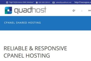 QuadHost UK cPanel 虚拟主机 最低 5英镑每年! SSD/ Dedicated IPv4/ DDoS防护