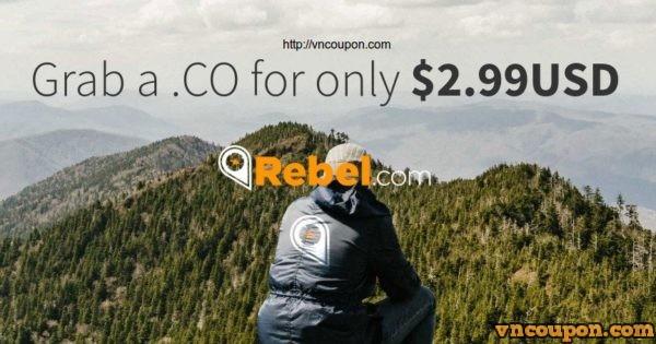 Rebel.com – Grab a .CO 域名 for 仅 $2.99USD