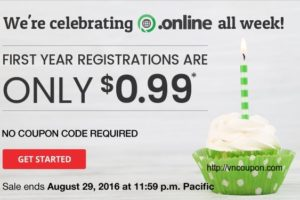 To celebrating the 1-year birthday of the .online TLD – 无限 first-year registrations for just $0.99!