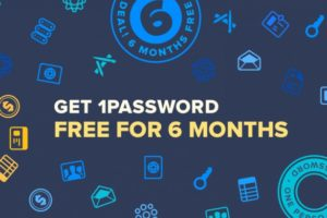 1Password – New Subscription Service – get 6 months free!