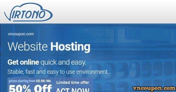 Virtono offer cPanel SSD Hosting 最低 €9每年