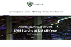 BudgetNode – 特价机 KVM VPS in Netherlands 最低 $15每年