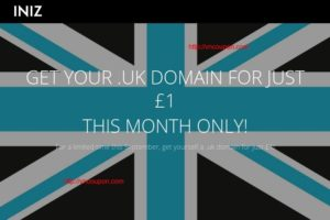 INIZ – Get your .UK 域名 for just 1英镑 for 首年 – No limits