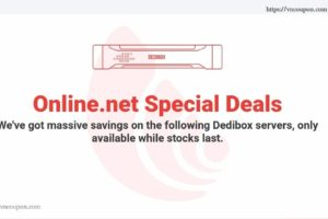 Online.net Server Specials Offer – Start-2-XS Dedibox Limited – Intel C2350/4GB 内存/500GB SATA 仅 4.99€每月