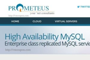 Prometeus lauching High Availability MySQL Service for businesses – 优惠20% 优惠码