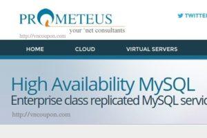 Prometeus lauching High Availability MySQL Service for businesses – 优惠20% 优惠码