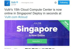 Vultr's Cloud Services is now online in Singapore! 免费$50 礼券 for 60 days