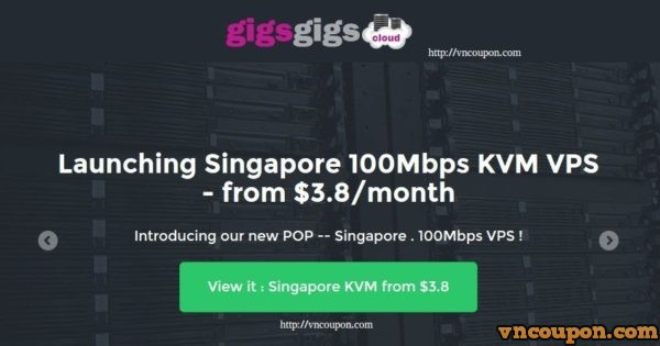 GigsGigsCloud Launching KVM SSD VPS in Singapore 最低 $36每年