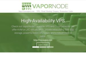 VaporNode – 特价机 2GB内存OpenVZ, LXC、KVM VPS 最低 $5每月 in Tampa Florida