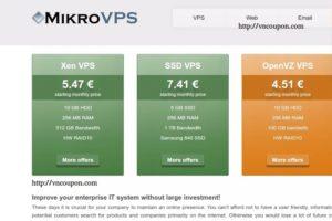 [Cyber Monday 2016] MikroVPS – 70%折扣 OpenVZ VPS