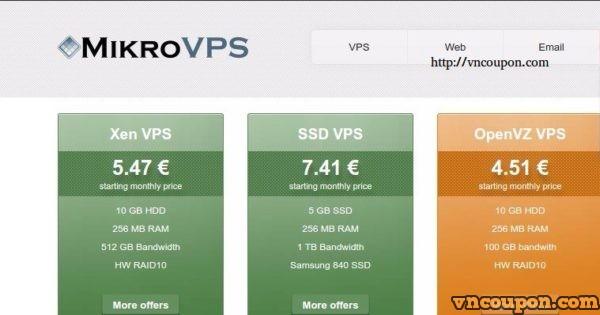 [网络星期一节日 2016] MikroVPS – 70%折扣 OpenVZ VPS