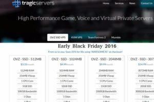 [黑色星期五 2016] TragicServers – SSD VPS 最低 $21每年