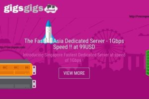 [12.12 优惠信息] GigsGigsCloud – 香港 & Singapore VPS from $1.8 USD每月