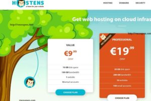 Hostens.eu – 虚拟主机 from €9.99每年 & VPS 最低 $1.99每月 in Europe