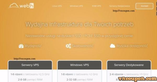Webh.pl – 特价机 1GB内存KVM VPS in Poland 仅 $35每年