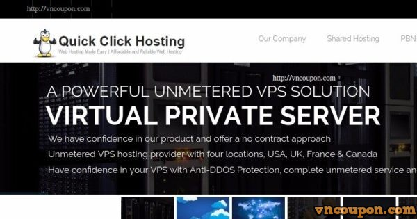 Quick Click Hosting – Unmetered VPS 500Mbps Port including Anti-DDoS Pro 最低 $3每月
