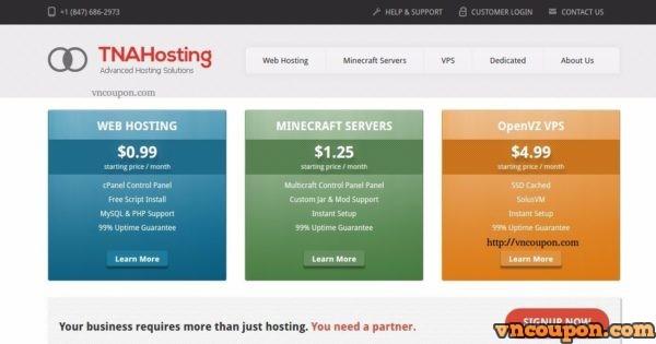 TNAHosting – SSD cPanel 虚拟主机 最低 $5每年