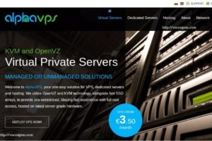 AlphaVPS – VPS specials with huge折扣 from 3 Euro每月