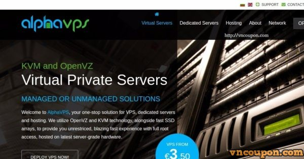 AlphaVPS – VPS specials with huge折扣 最低 20EUR每年