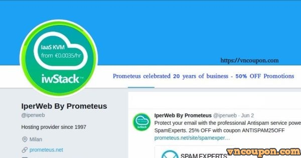 Prometeus celebrated 20 years of business – two new services、an 优惠50% Exclusive 优惠信息