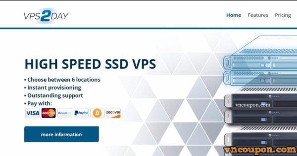 VPS2day – 1GB 内存 KVM VPS 仅 4.99€每月 – Multiple Location in 美国, EU
