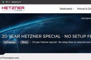 Hetzner 20 YEAR 特价机 – 无初装费 on RYZEN 独服