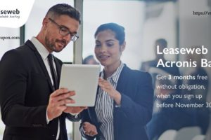 Get 3 months 免费LeaseWeb Acronis Backup