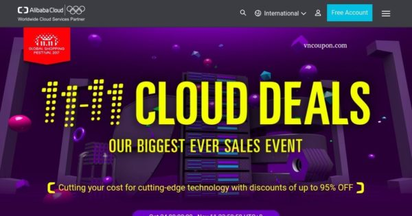 Alibaba Cloud Singles Day 提供 – Biggest Sale of the year 最高95% (Remind)
