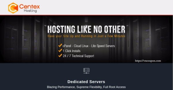CenTex Hosting – 特价机 4GB 内存 VPS 仅 $5每月