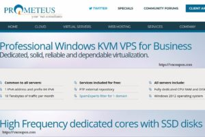 Prometeus – 50%永久折扣 on Windows VPS