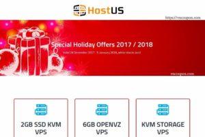 [Christmas Deals 2017] – HostUS 特价机 提供 – biggest sale of the year, while stocks last! OpenVZ, KVM, SSL、More!