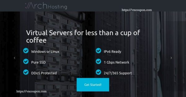 Arch Hosting – 2GB KVM VPS Exclusive 最低 $6每月