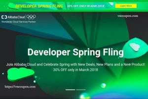 Join Alibaba Cloud、Celebrate Spring with New Deals, New Plans、a New Product! 优惠30% 仅 in 三月.2018