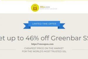 Get 优惠46% Greenbar EV SSL from SSLs.com