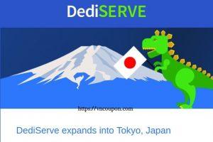 Dediserve expands into Tokyo,日本 – 优惠50% Sale Offer 18 Global KVM Clouds