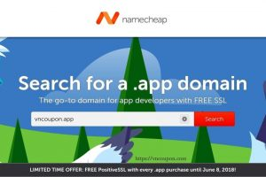 Namecheap – Register your .APP 域名、get a 免费PositiveSSL certificate