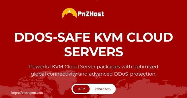 PNZHost – 特价机 KVM VPS  from 512MB内存$15每年 in 美国