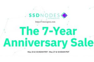 The SSD Nodes 7-Year Anniversary Sale is here! 最高91%折扣