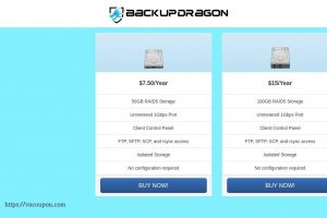 BackupDragon – Budget Backup Services starting at $7.5每年