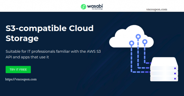 Wasabi – 1TB Cloud Storage 仅 $60每年 – S3 API Compatible