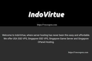 IndoVirtue – Singapore SSD VPS 最低 $5每月