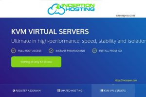 InceptionHosting – Storage KVM VPS 最低 $6.08每月 – Dedicated CPU – Unmetered流量