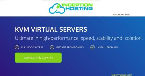 InceptionHosting – Storage KVM VPS 最低 $6.08每月 – Dedicated CPU – Unmetered流量