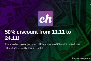 [11.11 Deals] Chevereto License – 50%折扣 from 11.11 to 黑色星期五