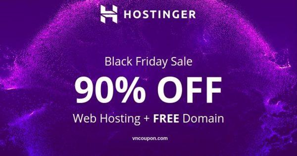 [黑色星期五 2018] Hostinger – 优惠90% 虚拟主机 + 免费域名