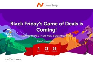 [黑色星期五/网络星期一节日 2018] Namecheap – Save 最高98% on 域名, Hosting, SSL、Private Email