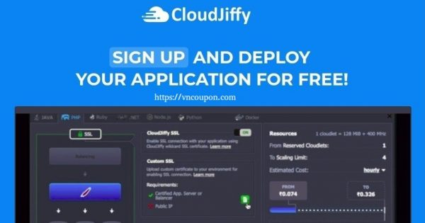 CloudJiffy – VPS Cloud Platform For Developers – 14 day trial free