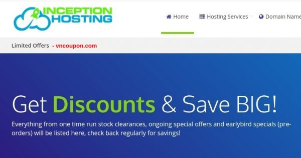 InceptionHosting – More deals for the End of The Year and圣诞节 2018