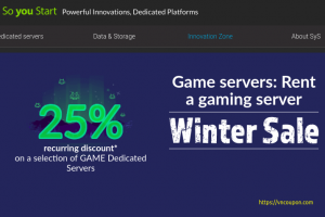 [Winter Sale] OVH So You Start – 优惠25% Dedicated Game Servers Promo